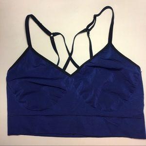 NWOT Nike Dri-Fit Large Blue Seamless Sports Bra
